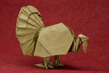 Origami American turkey by John Szinger on giladorigami.com
