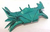 Origami Crab by John Montroll on giladorigami.com