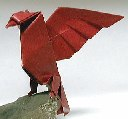 Origami Eagle by John Montroll on giladorigami.com
