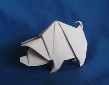 Origami Pig by Edwin Corrie on giladorigami.com