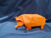 Origami Pig by Hsi-Min Tai on giladorigami.com