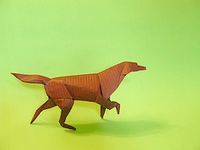 Origami Irish setter by Stephen Weiss on giladorigami.com