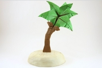 Origami Coconut tree by Quentin Trollip on giladorigami.com