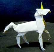 Origami Unicorn by Stephen Weiss on giladorigami.com