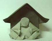 Origami Buddha shrine by Neal Elias on giladorigami.com