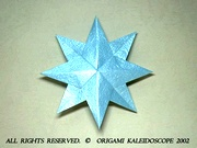 Origami 8 pointed star (double star) by Philip Shen on giladorigami.com