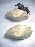 Origami Penguin hatching by Roman Diaz on giladorigami.com