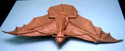 Origami Bat by Michael G. LaFosse on giladorigami.com