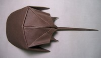 Origami Horseshoe crab by Michael G. LaFosse on giladorigami.com