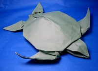 Origami Sea turtle by Michael G. LaFosse on giladorigami.com