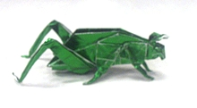 Green origami grasshoppers and mantis Royalty Free Vector | 121x220
