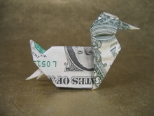 Origami Duck by John Montroll on giladorigami.com