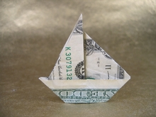 Origami Sailboat by John Montroll on giladorigami.com