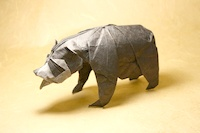Origami Spectacled bear by Nguyen Hung Cuong on giladorigami.com