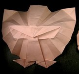 Origami Panther mask by Hojyo Takashi on giladorigami.com