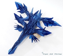 Origami Glaucus atlanticus - blue sea slug by Andrey Ermakov on giladorigami.com