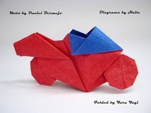 Origami Motorcycle by Daniel Bermejo Sanchez on giladorigami.com