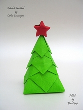 Origami Christmas tree by Carlos Bocanegra on giladorigami.com