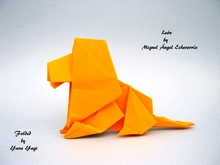 Origami Lion by Miguel Angel Echeverria on giladorigami.com
