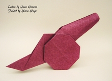 Origami Cannon by Juan Gimeno on giladorigami.com