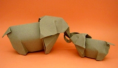 Origami Elephant by Sergio L. Guarachi Veliz on giladorigami.com