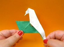 Origami Drinking bird by Eric Kenneway on giladorigami.com