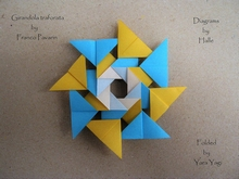 Origami Perforated pinwheel by Franco Pavarin on giladorigami.com