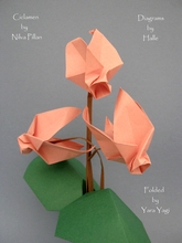Origami Cyclamen by Nilva Pillan on giladorigami.com