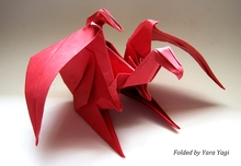 Origami Dragon by Graciela Vicente Rafales on giladorigami.com