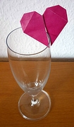 Origami Heart for drinking glass by Sandra Afonkina on giladorigami.com