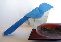 Origami Magpie - azure-winged by Ryo Aoki on giladorigami.com