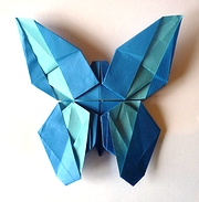 Origami Green-banded swallowtail by Ryo Aoki on giladorigami.com