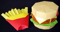 Origami Hamburger by Charles Esseltine on giladorigami.com