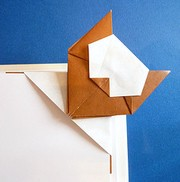 Origami Cat pagemarker by Peterpaul Forcher on giladorigami.com
