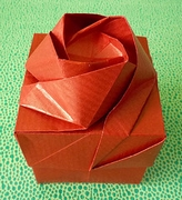 Origami Rose box (8 section) by Shin Han-Gyo on giladorigami.com