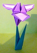 Origami Iris by Jun Maekawa on giladorigami.com