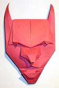 Origami Devil mask by Franco Pavarin on giladorigami.com