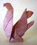 Origami Squirrel by Fred Rohm on giladorigami.com