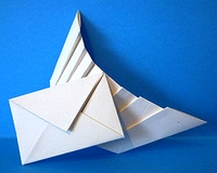 Origami Airmail by Hojyo Takashi on giladorigami.com