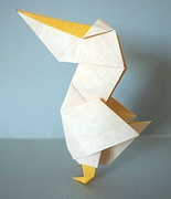 Origami Pelican by Eiji Tsuchito on giladorigami.com