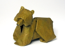 Origami Bear by Jozsef Zsebe on giladorigami.com