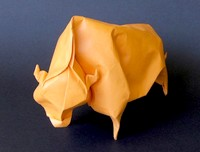 Origami Bison by Jozsef Zsebe on giladorigami.com