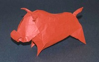 Origami Bull by Jozsef Zsebe on giladorigami.com