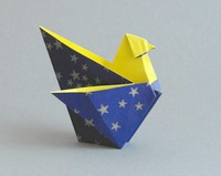 Origami Chicken by Jozsef Zsebe on giladorigami.com