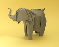 Origami Indian elephant by Jozsef Zsebe on giladorigami.com