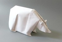Origami Polar bear by Jozsef Zsebe on giladorigami.com